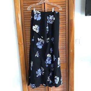 Banana Republic Skirts - NEW Banana Republic Navy Floral Ruffle Maxi Skirt